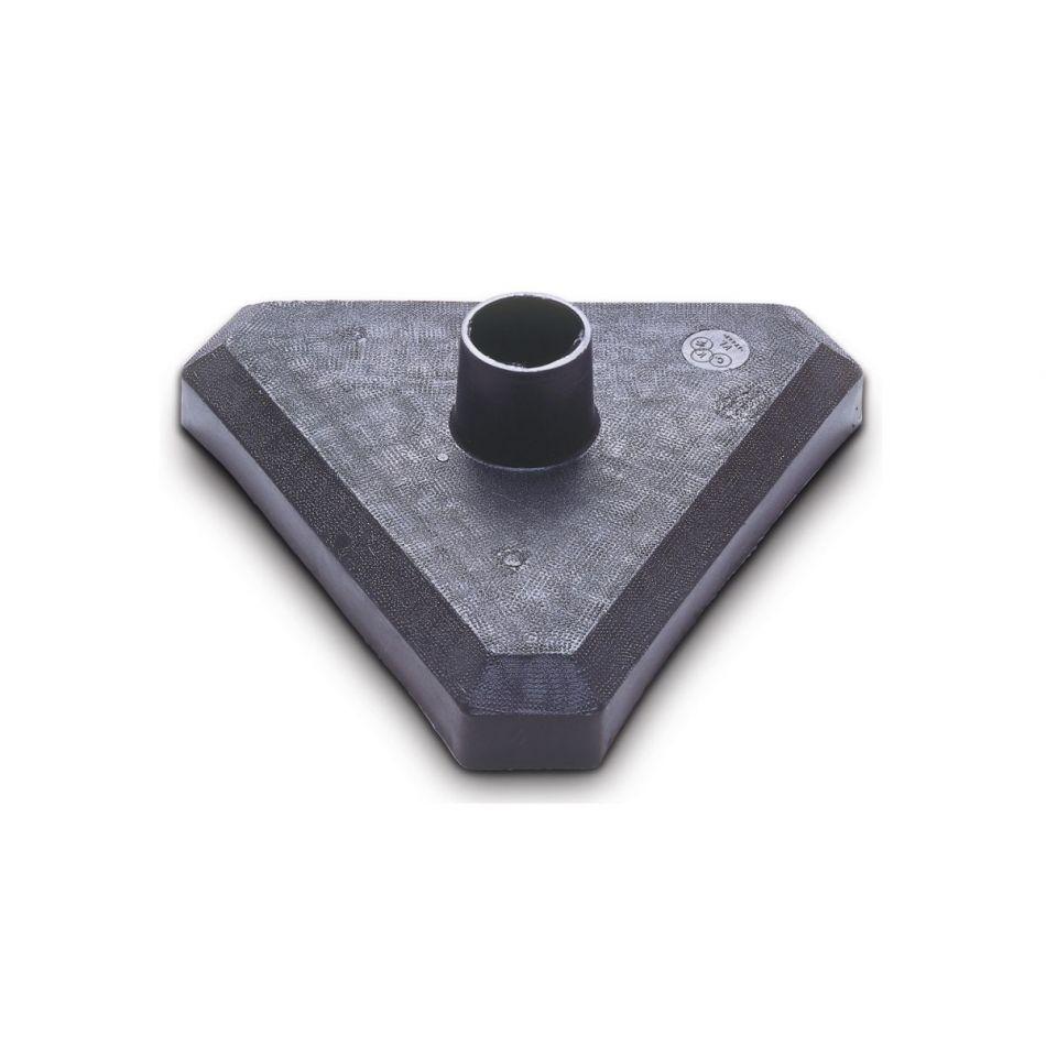 Kettingpaal kunststofvoet zwart/geel - 3 palen