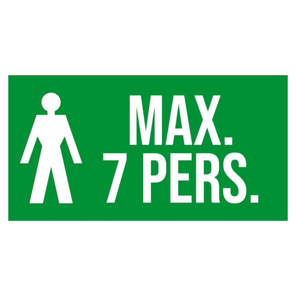 Sticker maximaal 7 personen