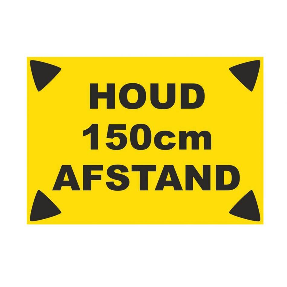 Sticker Houd 150 cm afstand A4